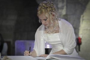 Photographe Mariage Bordeaux Sebastien Huruguen Signature Eglise ayguemorte mariee