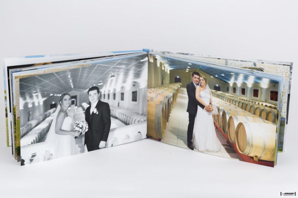 Livre album photo de Mariage format A4 paysage Sebastien Huruguen Photographe horizontal Qualité HD