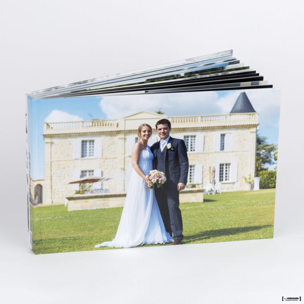 Couverture livre album photo de Mariage format A4 paysage Sebastien Huruguen Photographe