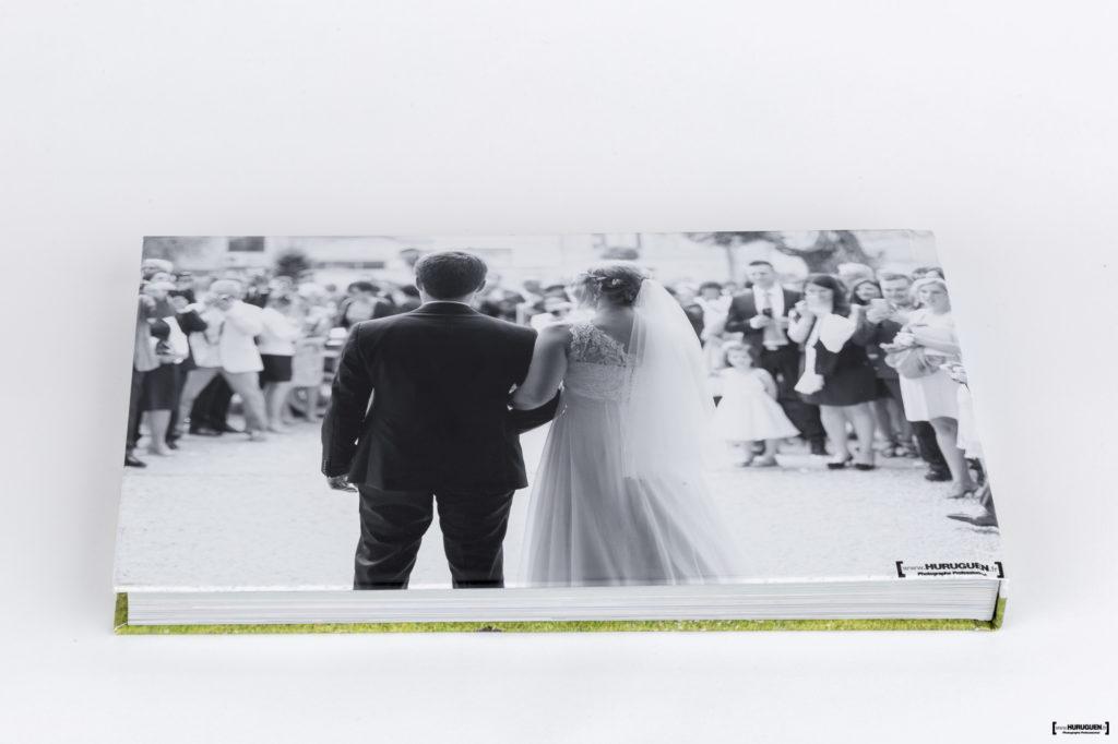 Beau livre album photo de Mariage format A4 paysage Sebastien Huruguen Photographe