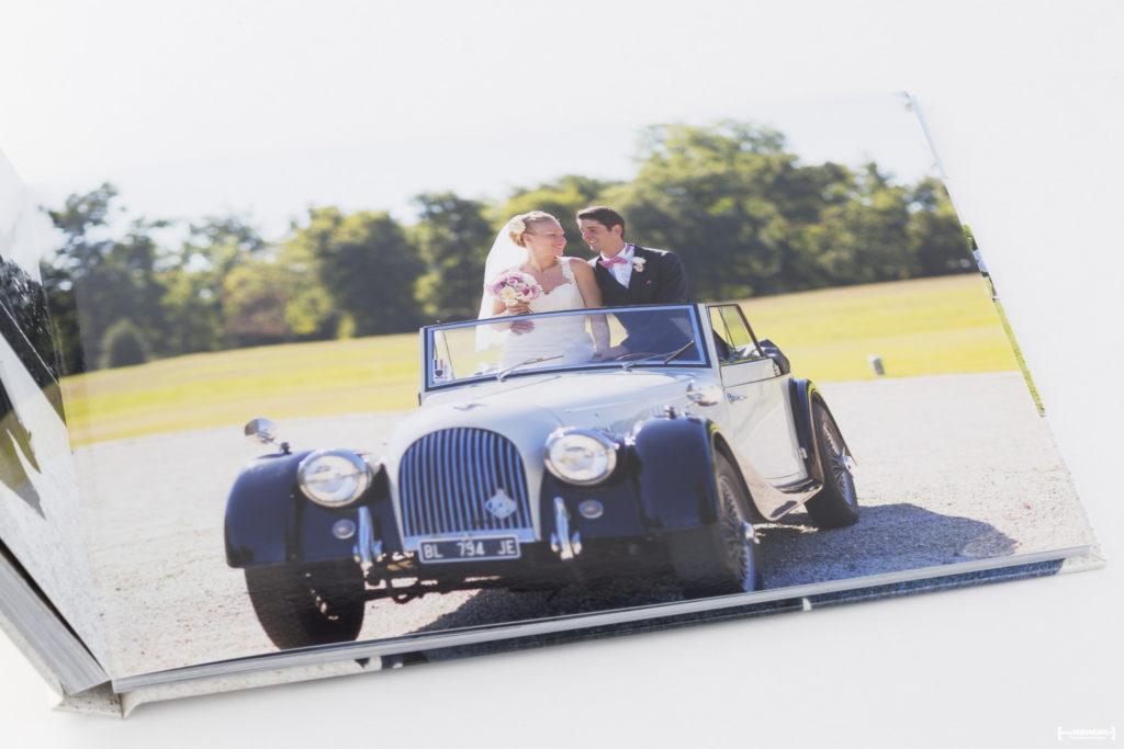Joli Livre Album photo de mariage réalisé par le photographe Sébastien Huruguen spécialiste de la photographie de mariage à Bordeaux et en gironde