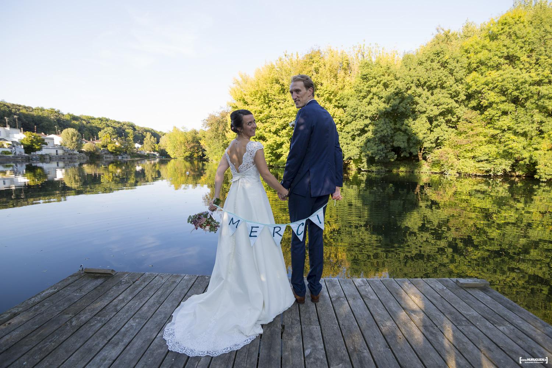 faire-part de remerciements mariage carte de remerciements Merci thank you photographe Bordeaux Sébastien Huruguen